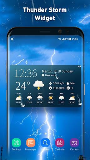 real-time weather temperature report & widget screenshot 1