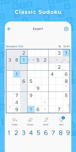 Sudoku Daily - Free Classic Offline Puzzle Game 1.8.0 screenshots 1
