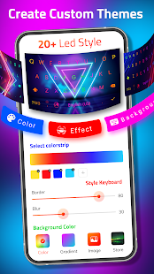 LED Keyboard - RGB Lighting Keyboard, Emojis, Font Screenshot