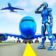 Robot Airplane Pilot Simulator - Airplane Games