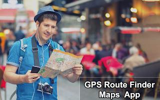 GPS Navigation Map Route Finder App