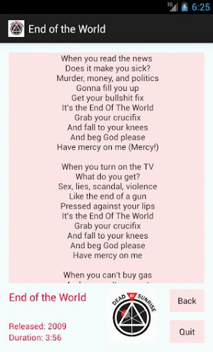 Dead By Sunrise Lyrics screenshots 2
