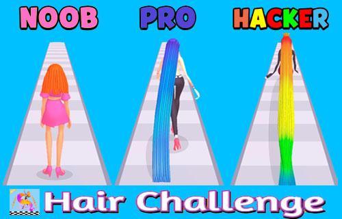 Hair challenge Run Rush screenshots 1