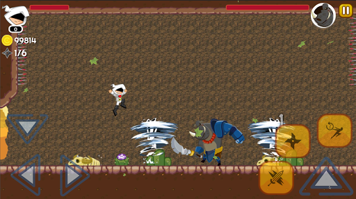 White Ninja: B Ninja Jump Run Battle Adventure  screenshots 2