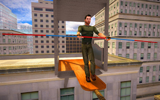 VR City View Rope Crossing - VR Box App  screenshots 17