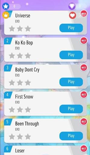 EXO Piano Tiles Best KPOP Offline  Screenshots 3