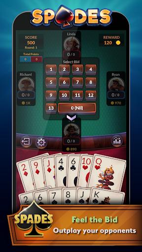 Spades - Offline Free Card Games android2mod screenshots 3