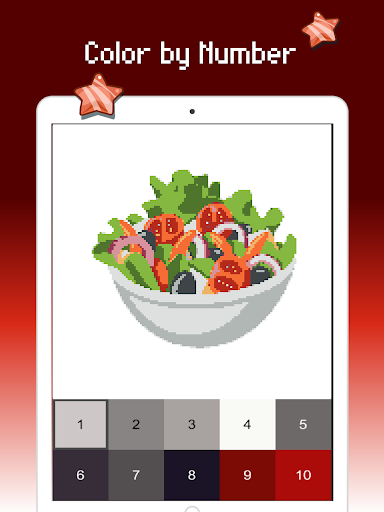 Food color by number : Pixel art coloring 1.5 screenshots 14