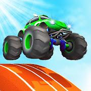Crazy Tracks Car Racing: Mega Ramp Uphill Stunt