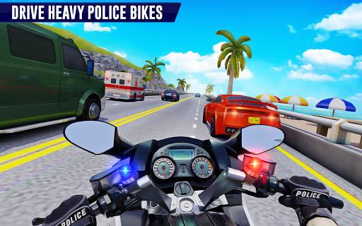 Police Moto Bike Highway Rider Traffic Racing Game  Screenshots 1