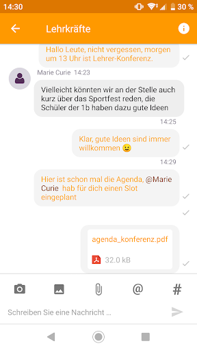 Untis Messenger modavailable screenshots 2