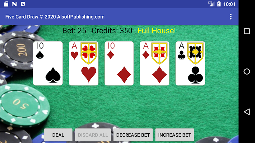 Five Card Draw Poker  screenshots 4