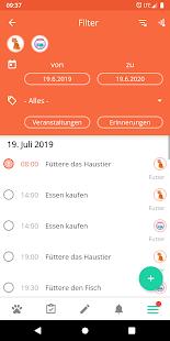 Haustier-Pflegekalender Screenshot