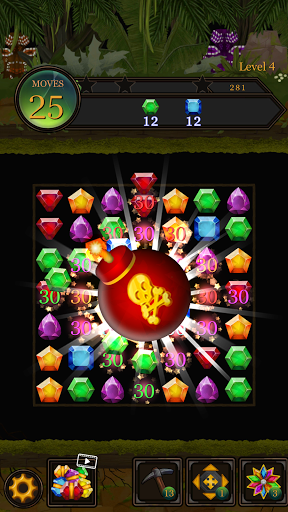 Secret Jungle Pop : Match 3 Jewels Puzzle Apkfinish screenshots 6
