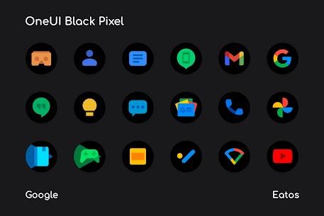OneUI 3 Black – Round Icon Pack 5