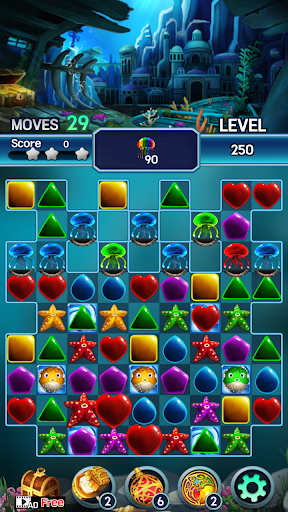 Jewel ocean world: Match-3 puzzle Apkfinish screenshots 7