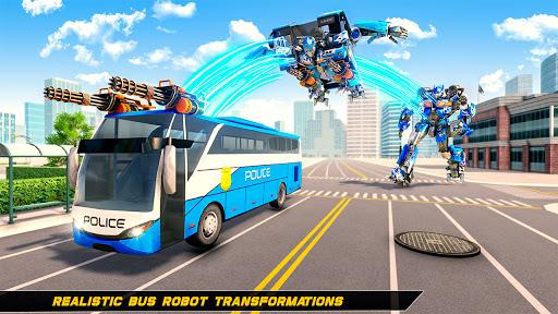 Bus Robot Car Transform Waru2013 Spaceship Robot game apkpoly screenshots 3