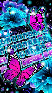 Twinkle Flower Butterfly Keyboard