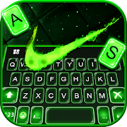 Green Neon Check Keyboard Theme