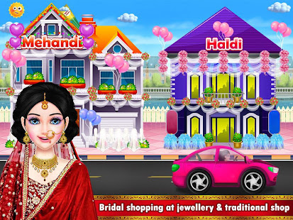 インドのウェディングメイクアップサロンとショッピングモール