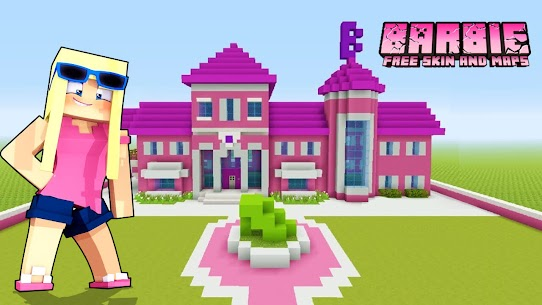 Free Barbie Skin amp  Maps House For MINECRAFT PE Apk Download 2021 1