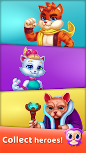 Cat Heroes – Color Matching Puzzle Adventure 2