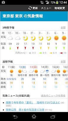 予報 気象庁 週間 東京 天気
