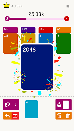 2048 : Solitaire Merge Card  screenshots 1