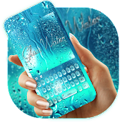 Blue Glass Water Keyboard Theme