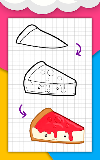 How to draw cute food, drinks step by step 1.6.2 Screenshots 13