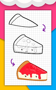 How to draw cute food, drinks step by step