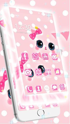 Pink kawaii Princess Kitty Theme  screenshots 6