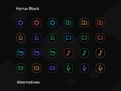 Horux Black APK- Icon Pack (PAID) Download Latest Version 3