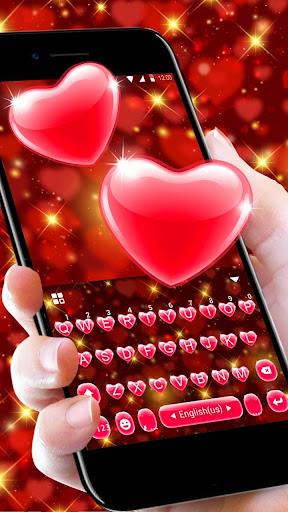 Red Heart Keyboard Theme 2.3 Screenshots 3