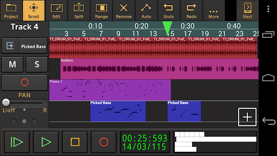 Audio Evolution Mobile Studio TRIAL 5.0.2.1 [Mod + APK] Android 1