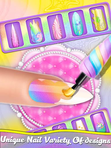 Manicure Nail Salon- Unicorn Fashion Game for Girl apkdebit screenshots 8