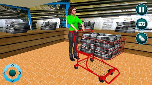 Télécharger Travailler maman Paper Girl Jeu de famille mod apk screenshots 5