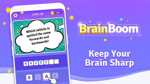 BrainBoom: Word Brain Games, Brain Test Word Games apkpoly screenshots 1
