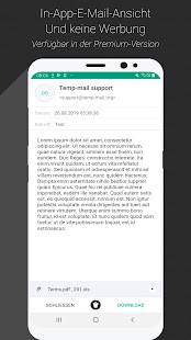 Temp Mail - Temporäre Wegwerf-E-Mail Screenshot