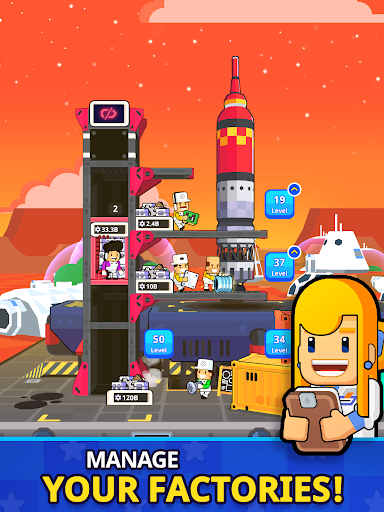 Rocket Star - Idle Space Factory Tycoon Game 1.45.0 screenshots 12