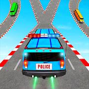 US Police Limo Ramp Car Stunts: Police Car Games