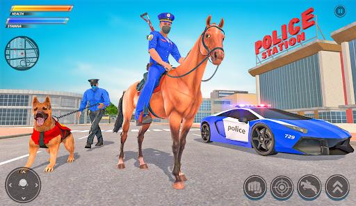 Police Horse Gangster Chase: Crime Shooting Games APK MOD Download 1