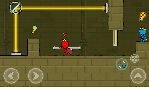 Red and Blue Stickman : Animation Parkour 1.0.6 screenshots 24