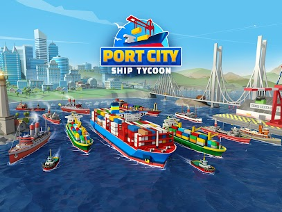 Free Port City  Ship Tycoon Apk Download 2021 1