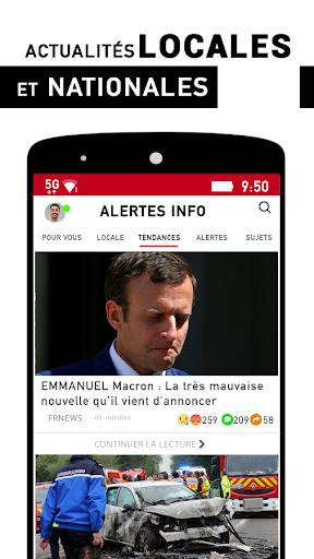 Alertes info: Actualitu00e9 locale et alerte d'urgence 10.7.0 Screenshots 1