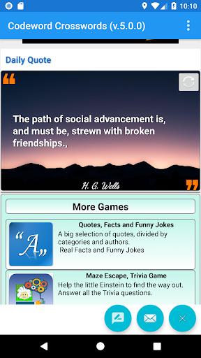 Codeword Puzzles Word games, fun Cipher crosswords 7.5 screenshots 17