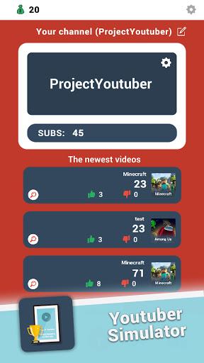 Project: Youtuber  screenshots 1
