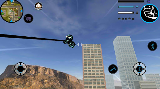 Neon Iron Stickman Rope Hero City Gangstar Mafia  Screenshots 3