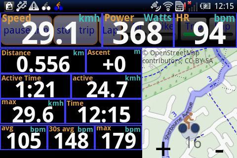IpBike ANT+u2122 Bike Computer android2mod screenshots 4