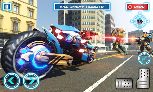 Lion Robot Transform Bike War : Moto Robot Games 1.5 screenshots 14